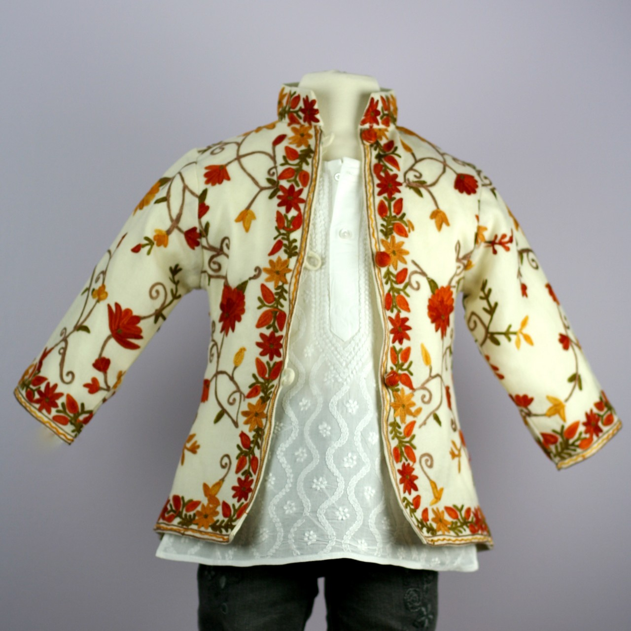 Kashmir Embroidered Jacket Free Embroidery Patterns